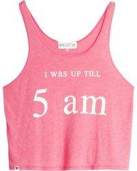 Wildfox 5Am Tank Top pink - Lyst