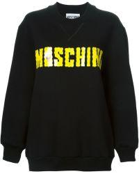 Moschino Black Oversize Sweatshirt - Lyst