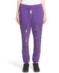 Nicopanda - Zip Detail Cotton Terry Pants - Lyst