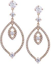 Judith Jack Gold-plated Crystal Orbital Drop Earrings - Lyst