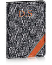 Louis Vuitton Passport Cover Mon Damier Graphite - Lyst