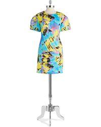 Love Moschino Tie-Dyed Scuba Shift Dress - Lyst