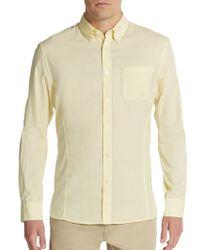 John Varvatos Regular-Fit Cotton Sportshirt - Lyst