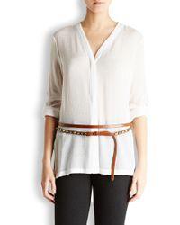 Donna Karan - Chestnut Leather Waist Belt - Lyst