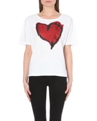 Vivienne Westwood Anglomania Liquor Heart Cotton-Blend T-Shirt - Lyst