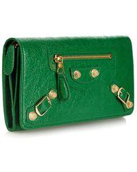 Balenciaga Giant Money Leather Wallet - Lyst