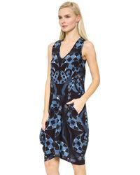 Zero + Maria Cornejo Silk Venetian Print Sima Dress - Venetian/Blue blue - Lyst