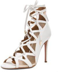 Aquazzura French Lover Leather Heels - Lyst
