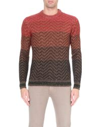 Missoni Patterned Knitted Jumper - Lyst