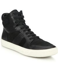 Vince Adam Leather & Suede High-Top Sneakers black - Lyst
