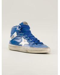 Golden Goose Deluxe Brand Blue Hi-top Sneakers - Lyst