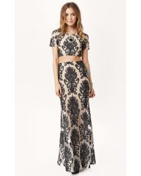 For Love And Lemons Ethereal High Waist Maxi Skirt - Lyst