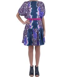 Peter Pilotto Silk-Dress - Lyst