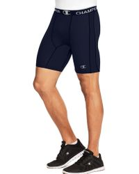 Champion - Power Flex Solid Compression Shorts 6-inch - Lyst
