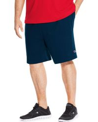 ad62e3e152 Lyst - Champion Big & Tall Jersey Shorts in Blue for Men