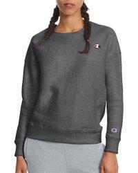 3d479d8bc544 Lyst - Champion Texas A m Reverse Weave Crewneck Sweater Heather ...
