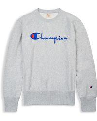 Champion - Europe Premium Reverse Weave® Crew, Script Logo - Lyst