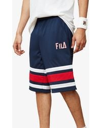 212cd9f9b289 Fila George Short in Blue for Men - Lyst