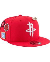 detailed look d7d71 bdb7b KTZ Houston Rockets Heather Slice 59fifty Cap in Black for Men - Lyst
