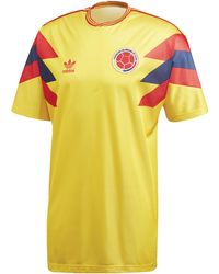 10c6277af adidas Originals Colombia Mash-up Jersey in Yellow for Men - Lyst