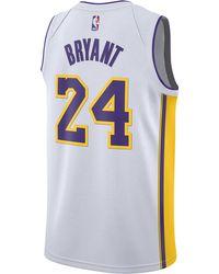 more photos d5c4f 6e0e7 Nike Kobe Bryant Nba Swingman Jersey in White for Men - Lyst