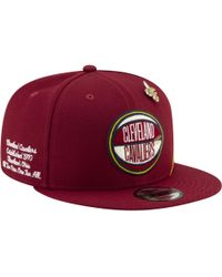 low priced 80d0d b1b5d KTZ Cleveland Cavaliers Earned Edition 39thirty Cap in White for Men - Lyst