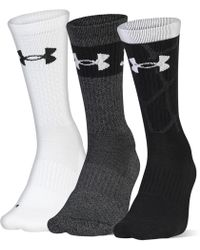 f72dd05b608 Under Armour Youth Ua Phenom 3.0 Crew – 3-pack Socks in Red for Men - Lyst