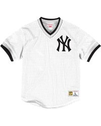 20a59739 Mitchell & Ness Yankees Don Mattingly Baseball Tee in White for Men ...