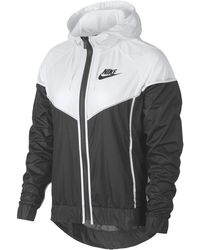 39135f058 Nike Floral Colorblocked Cropped Windrunner Hooded Jacket in White - Save  33% - Lyst