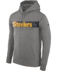 5005184d9b7 Nike - Pittsburgh Steelers Nfl Sideline Therma Seismic Po Hoodie - Lyst