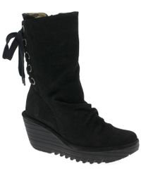 d81ab518ec486 Circus by Sam Edelman Raylan Mid-length Boot in Blue - Lyst
