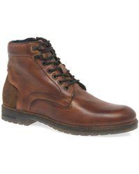Bugatti - Ringo Ii Mens Cognac Leather Lace Zip Ankle Boots - Lyst