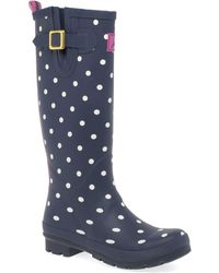 Joules - Print Womens Wellingtons - Lyst
