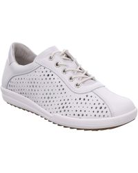 Josef Seibel - White Leather 'dany 49' Casual Trainers - Lyst
