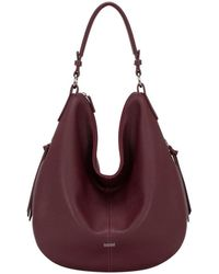 83350117 Lyst - Tommy Hilfiger Womens Leather Signature Hobo Handbag in Metallic