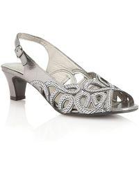 Lotus - Harper Womens Peep Toe Sandals - Lyst