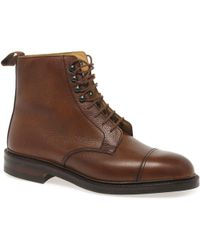 Crockett and Jones - Coniston Mens Tan Lace-up Formal Boots - Lyst