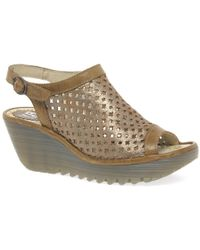 Fly London - Yuti Womens Wedge Heel Sandals - Lyst