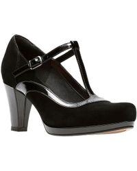 Clarks - Chorus Pitch Womens T-bar Court Shoes - Lyst