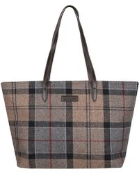 Barbour - Witford Tartan Tote Bag - Lyst