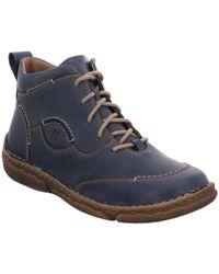 Josef Seibel - Blue Leather 'neele 34' Womens Ankle Boots - Lyst