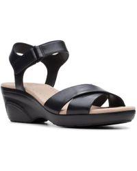 7f78cbdb1706 Clarks - Lynette Deb Womens Wide Fit Sandals - Lyst