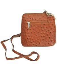 Charles Clinkard - Kelly Small Ostrich Leather Messenger Bag - Lyst