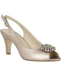 Lotus - Elodie Womens Sling Back Court Shoes - Lyst
