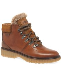 Pikolinos - Brussels Womens Leather Hiker Walking Ankle Boots - Lyst