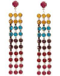 Charlotte Russe - Colored Rhinestone Drop Earrings - Lyst