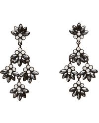 Charlotte Russe - Rhinestone Drop Earrings - Lyst