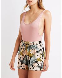Charlotte Russe - Floral Drawstring Shorts - Lyst