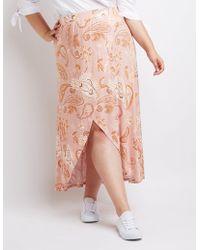 Charlotte Russe - Plus Size Paisley Wrap Maxi Skirt - Lyst