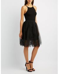 Charlotte Russe - Tulle Lace Midi Skirt - Lyst